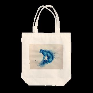BTOKの青い猫 Tote bags