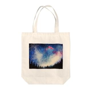 森から見上げた星空 トートバッグ