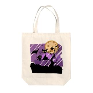 月とにゃ~♡ Tote bags