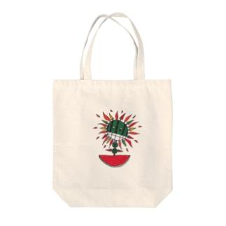 西瓜&太陽 Tote bags