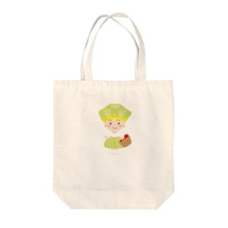 8月誕生石ペリドットちゃん Tote bags