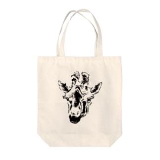 キリンはまっている Tote bags