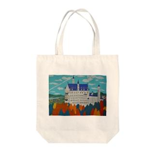 紅葉のノイシュバンシュタイン城 Tote bags