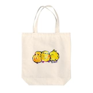 ひよことりお Tote bags