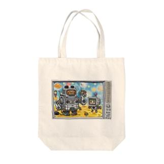 うちゅー Tote bags