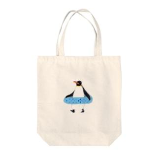 うきわペンギン Tote bags