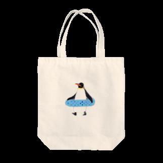 kuroのうきわペンギン Tote bags