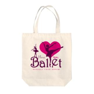 FOXY COLORSのI Love Ballet A Tote Bag