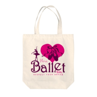I Love Ballet B Tote bags