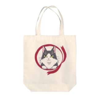 ハチワレねこ(長毛) Tote bags