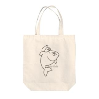 ベルーガちゃんとサザナミインコ Tote bags