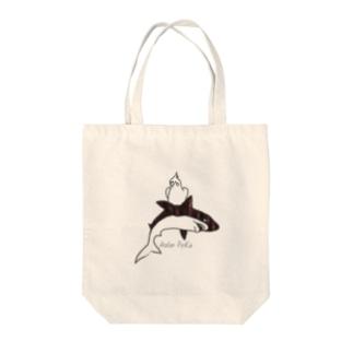 オカメとサメちゃん Tote bags