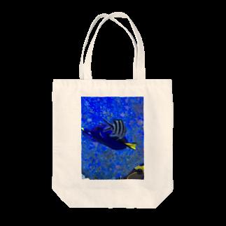 Luckyemeの交差する魚トートバッグ