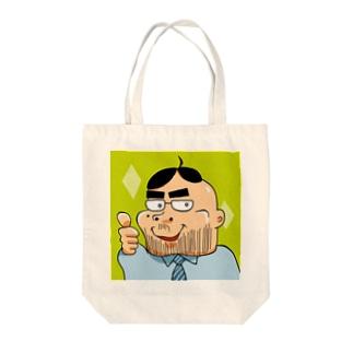 緑(四角)の「ヨシダ君」 トートバッグ