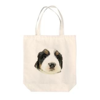 バーニーズマウンテンドッグA 子犬 Tote bags