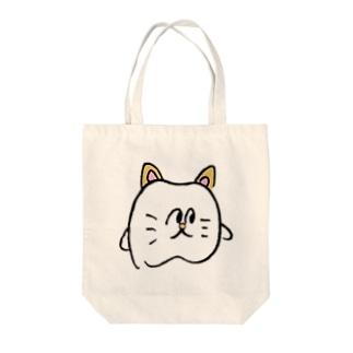 歯のネコ Tote bags