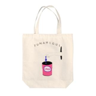 ユーモアデザイン「つまみ食い」 Tote bags