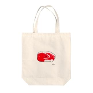 にく Tote bags