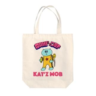 カンフーネジネコ Tote bags