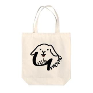 【uncle momo】ロゴ Tote bags