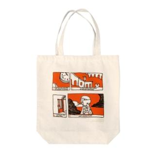 待合室で 〜In the waiting room〜 Tote bags
