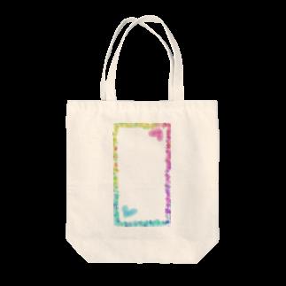 空想屋の虹色ハート Tote bags