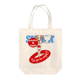 セクシーモクモックマinビーチ 白 Tote bags