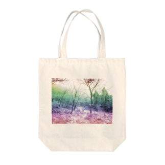 Colorful Photo(Snow Forest) Tote bags