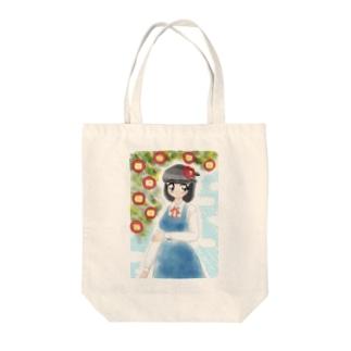 ツバキ 女の子 Tote bags