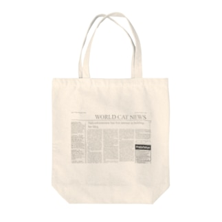 WORLD CAT NEWS Tote bags