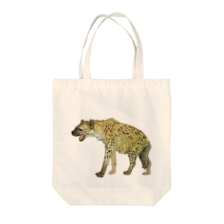 SPOTTED HYENA Tote bags