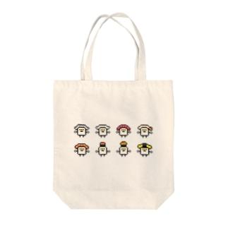 PixelArt スシスッキー8 Tote bags