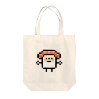 PixelArt スシスッキー サーモン Tote bags
