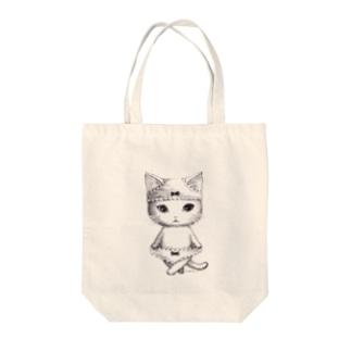 ダブルぱんつ白猫2017 Tote bags