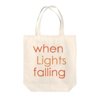 when Lights falling トートバッグ