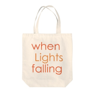 when Lights falling Tote bags