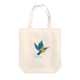 ヒフミ ヨイのカワセミ飛沫 Tote bags