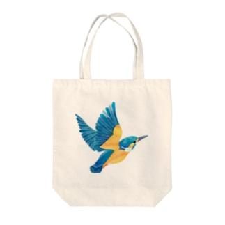 カワセミ Tote bags