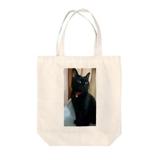 キリッ(ねこ) Tote bags