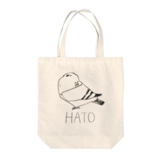 ハト Tote bags