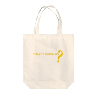 WHAT'S GOING ON? Tote bags