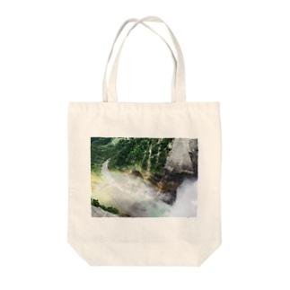 Kurobe Dam Tote bags