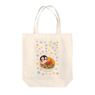 甘党ペンギンさんとあんみつ Tote bags