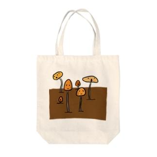 プランターに生えた謎のきのこ Tote bags