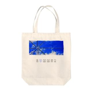ビニール傘と青空 Tote bags
