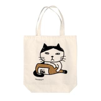 酒とにゃんこ Tote bags