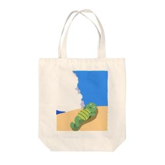 甲羅干し Tote bags