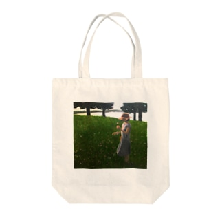 花を摘む少女 Tote Bag