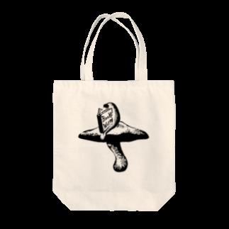 金星灯百貨店の本の虫 モノクロ トートバッグ