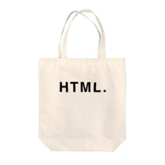 エイチティエムエル Tote bags